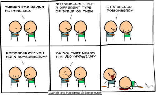 I've ran into the Cyanide and happiness comics a few times, but I've finally