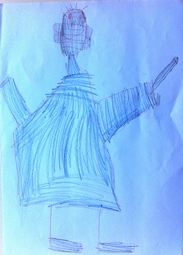 kendo child drawing