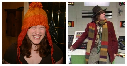 A Jayne-hat from Firefly and a scarf from Dr Who.