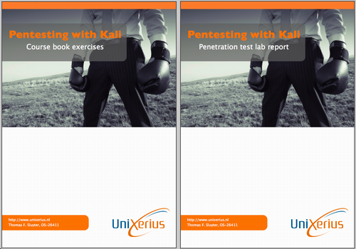 Covers of my reports