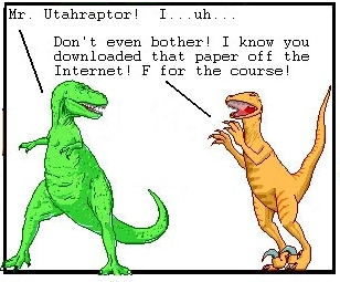 T-Rex bullied someone into making his homework!