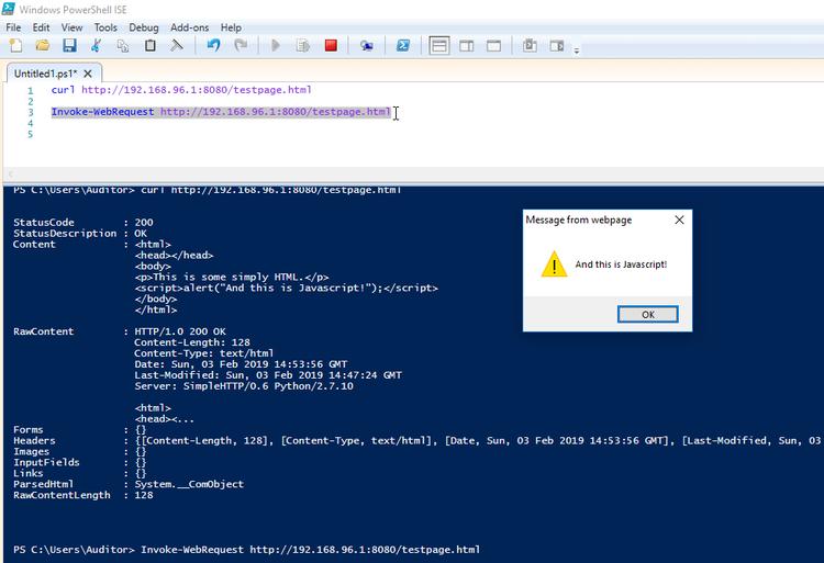 kilala nl - Surprise! Invoke-WebRequest runs Javascript