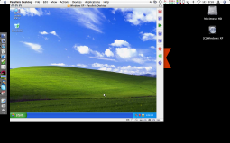 A screenshot of Parallels running.